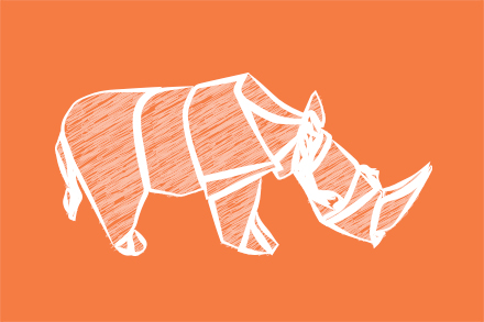 Paper Rhino Illustration