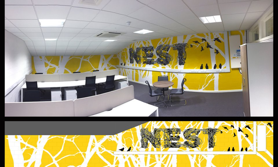 Nest – Office Mural