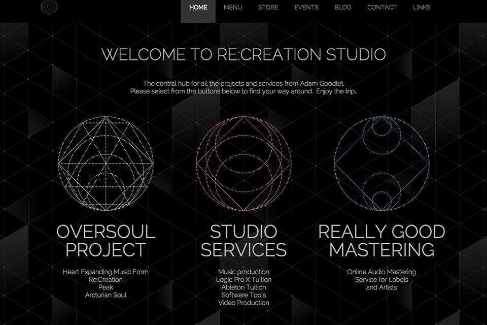 Re:Creation Studio Website