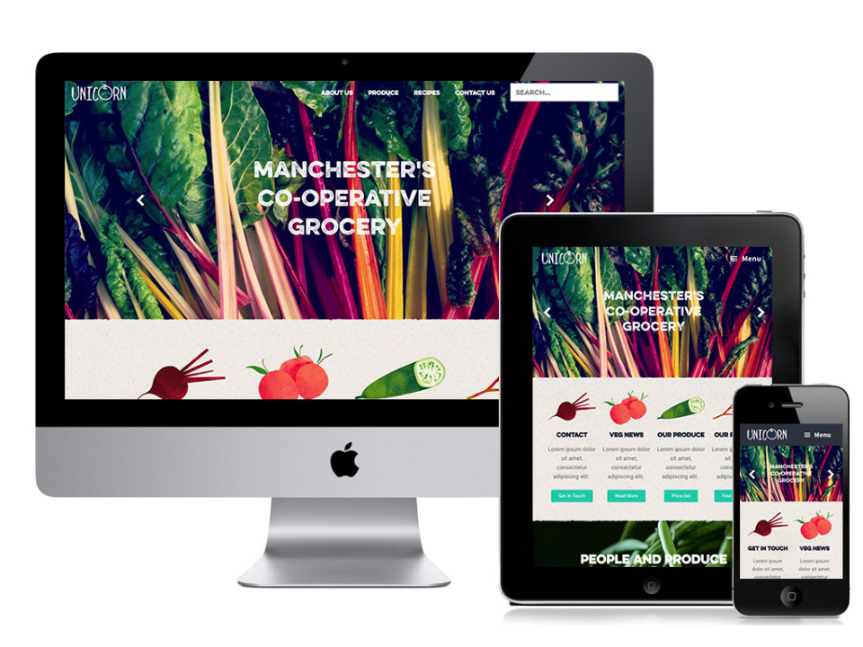 Unicorn grocery website